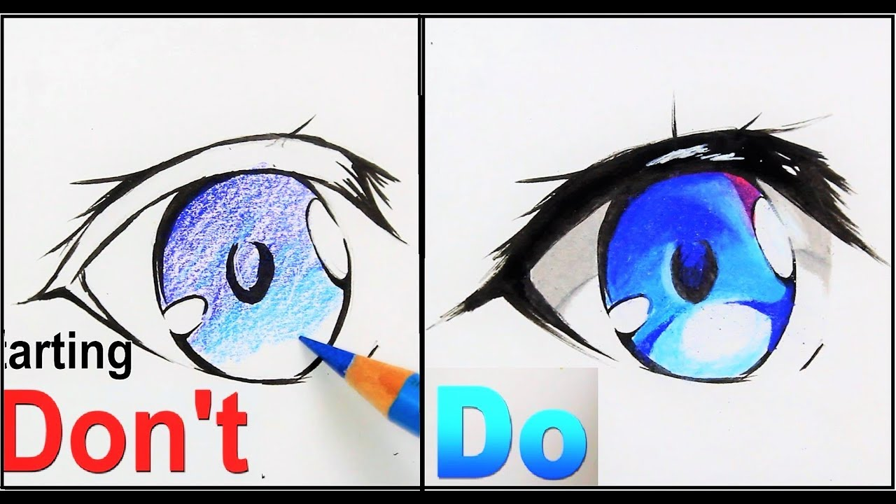DON't VS DO :How To Draw Anime Eyes | Drawing Tutorial ...