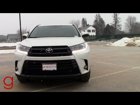 2017 Toyota Highlander Se Snowy Road Test Review