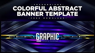 Colorful Abstract Banner Template | For Twitter | Fezodesigns