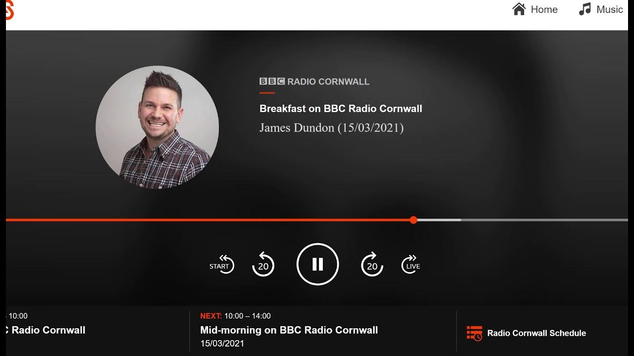 Sam Church on BBC Radio Cornwall
