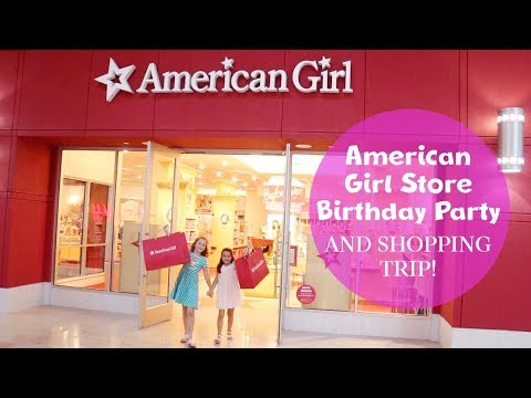 American Girl Store Birthday Party And Shopping Trip!