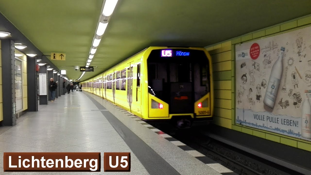 Lichtenberg U5 : U-Bahn Berlin ( BVG H - F76 ) - YouTube