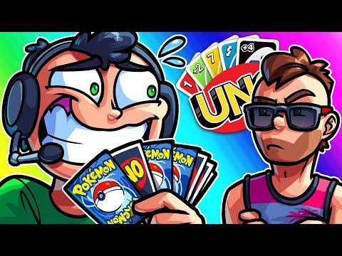 UNO Funny Moments - The Longest Game of Nogla Opening up Pokemon Packs! |