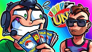 UNO Funny Moments - The Longest Game of Nogla Opening up Pokemon Packs!