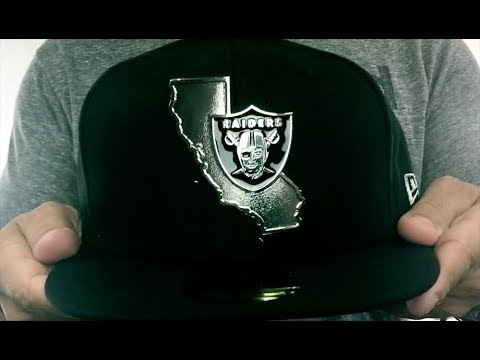 92dc163f891660 Raiders 'SILVER STATED METAL-BADGE' Black Fitted Hat by New Era ...
