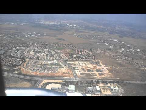 Flying over Palestine and Landing at Lod Airport