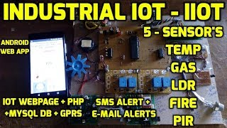 IIoT - Industrial Internet of Things Monitoring Of Sensor'S Data on Android App