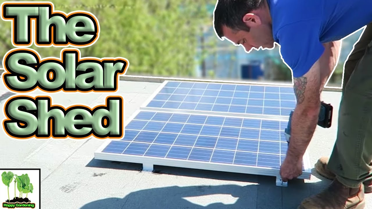 Installing A 200w Solar System In My Shed Youtube