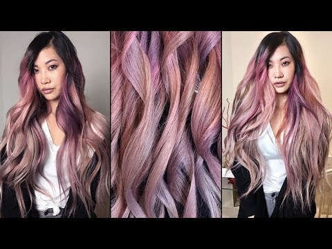 Hair Color Transformation: Rose Gold Coral