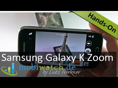 Samsung Galaxy K Zoom: Das Kamera-Handy im Hands-on