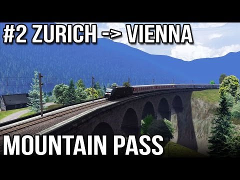 Zurich to Vienna Mountain Pass - Route 2 of 10 Three Countries (Train Simulator 2014)