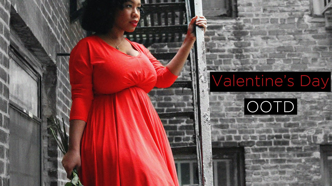 Plus Size Ootd Fancy Dress For Valentine S Day Youtube