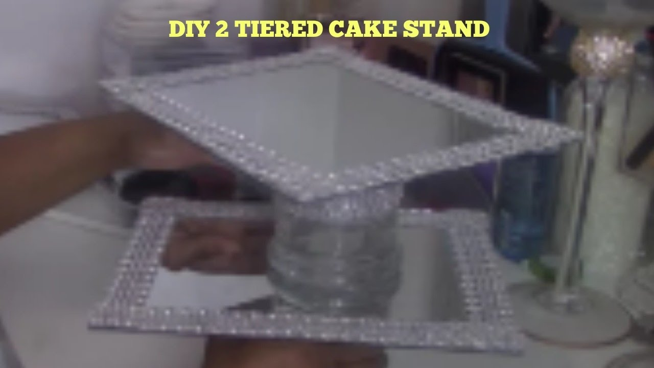 Dollar Tree Diy Mirowed Cake Stand Youtube