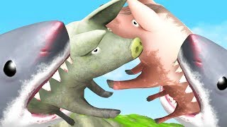 pig battle with sharks amazing frog part 121   pungence