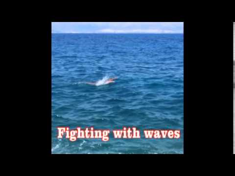 Butterfly swimming 20 km, man 50 years old
