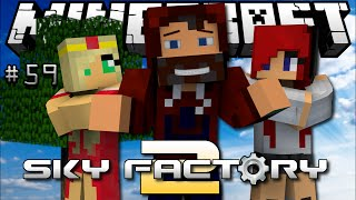 """WATCH ME MAKE STUFF!"" SKY FACTORY 2 with ARIZRAIN & HEATHER #59"