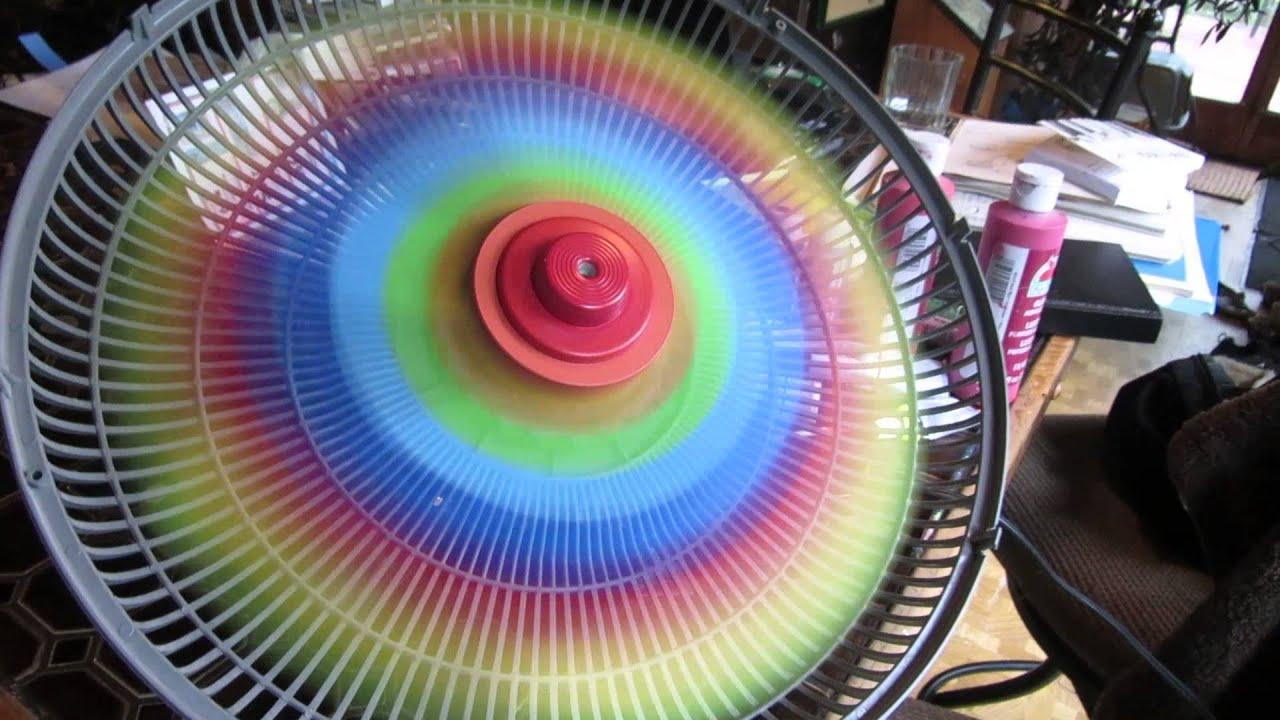 Spinning Rainbow Fan