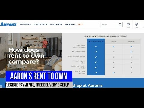 AARON'S RENT TO OWN, NO CREDIT NEEDED, LIFETIME REINSTATEMENT,FREE DELIVERY & SETUP,SERVICE & REPAIR
