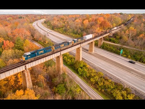 Railfanning the CSX LCL Subdivision - October 2015 (Drone Video)