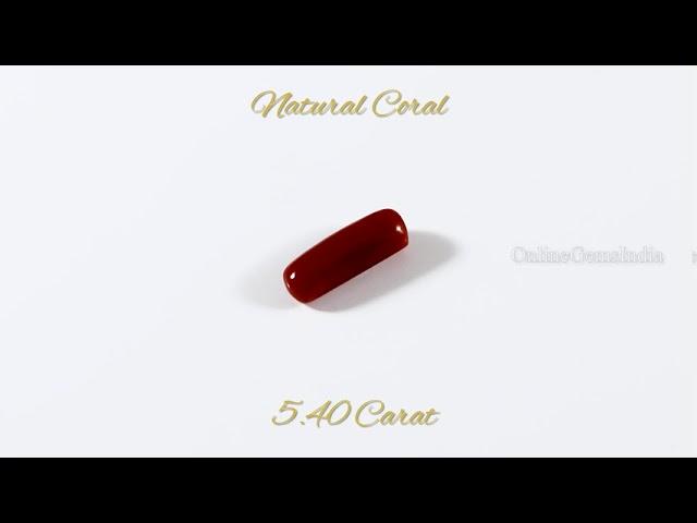 NATURAL RED CORAL (ITALIAN ) 5.40 CARAT