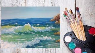 Видео урок Морские волны гуашью! Рисуем с Dari Art!(На что можно смотреть вечно? На огонь... и конечно же на воду! Давайте в этот раз нарисуем воду, волны, пену,..., 2014-10-23T04:28:50.000Z)
