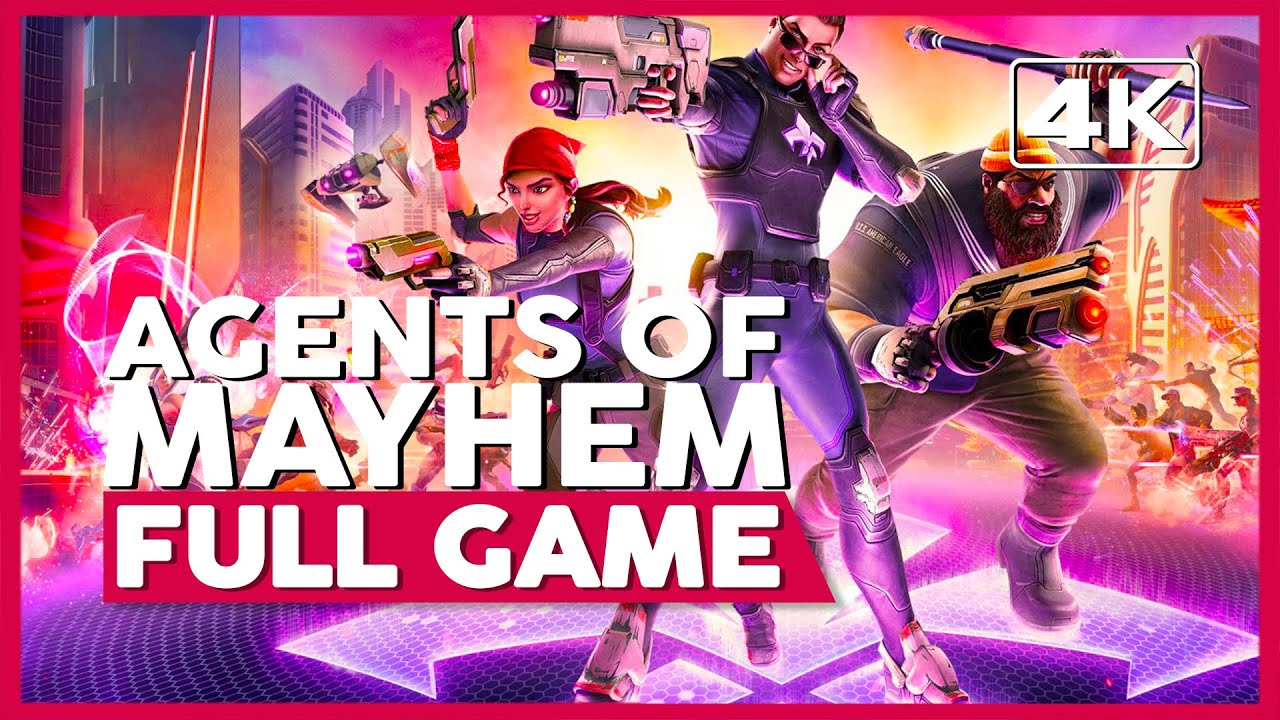 Agents Of Mayhem | Full Playthrough | No Commentary [PC,PS4,XB1] (60FPS)