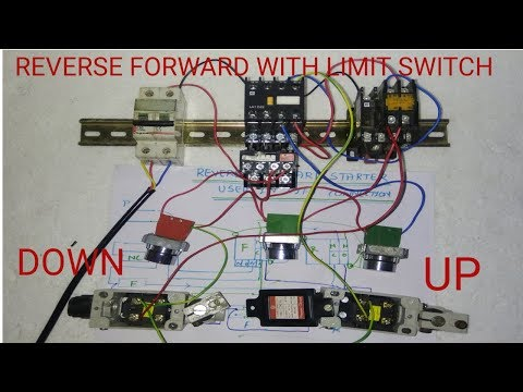 Reverse Forward Starter Control Wiring With Limit Switch Youtube