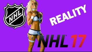 THE NHL vs NHL 17 - REAL LIFE vs. A VIDEO GAME