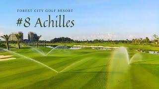 "HOLE 8 ""Achilles"" from LGK Classic Courses Forest City Golf Resort  危机四伏-森林城市高尔夫经典球场8号洞"