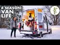 Winter Van Life - Couple Living in a Camper Van While Running a Business