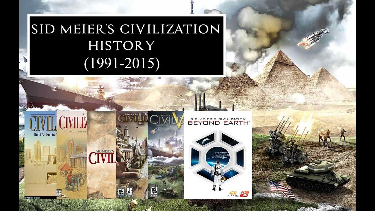 sid meier s civilization history 1991 2015 youtube