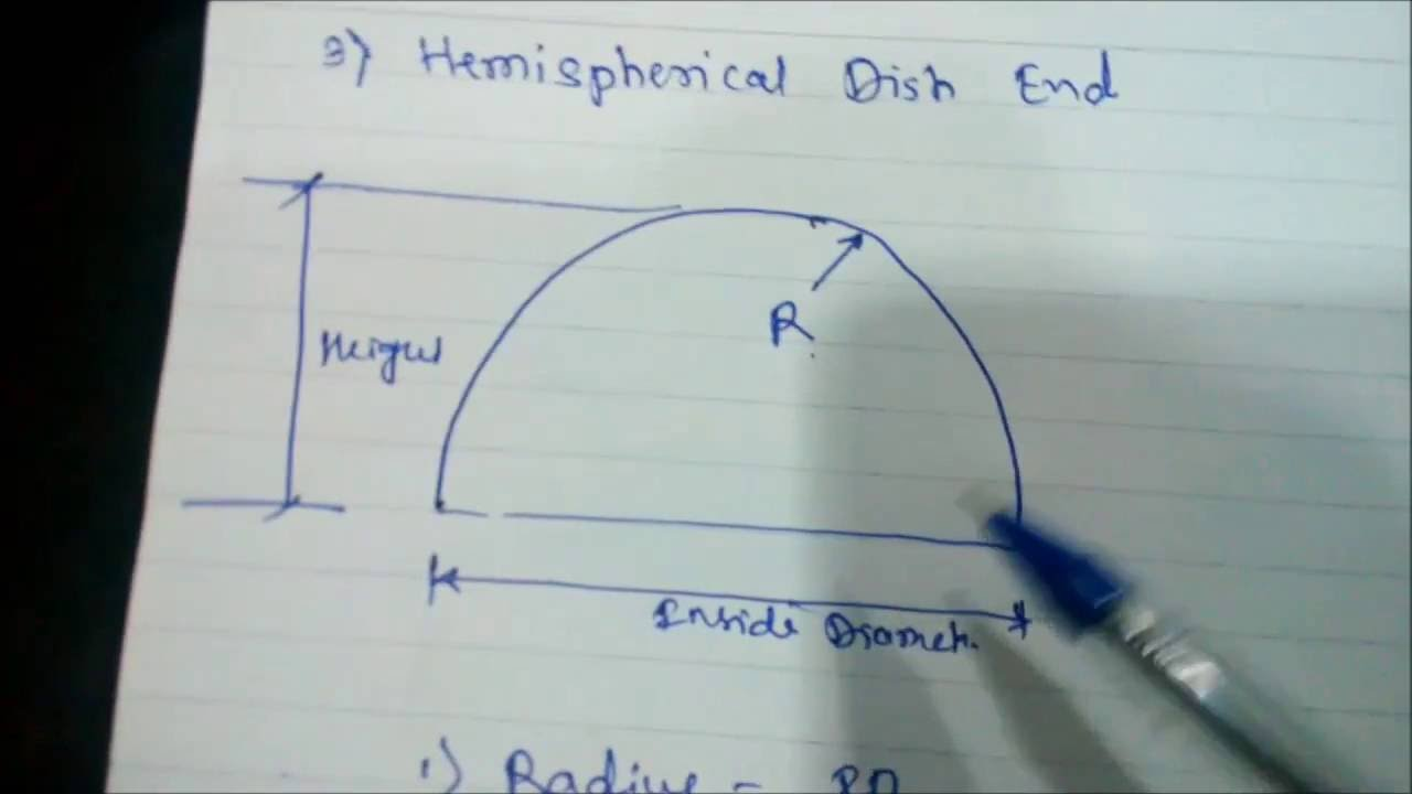 Hemispherical Dish End Fabrication Terms Youtube