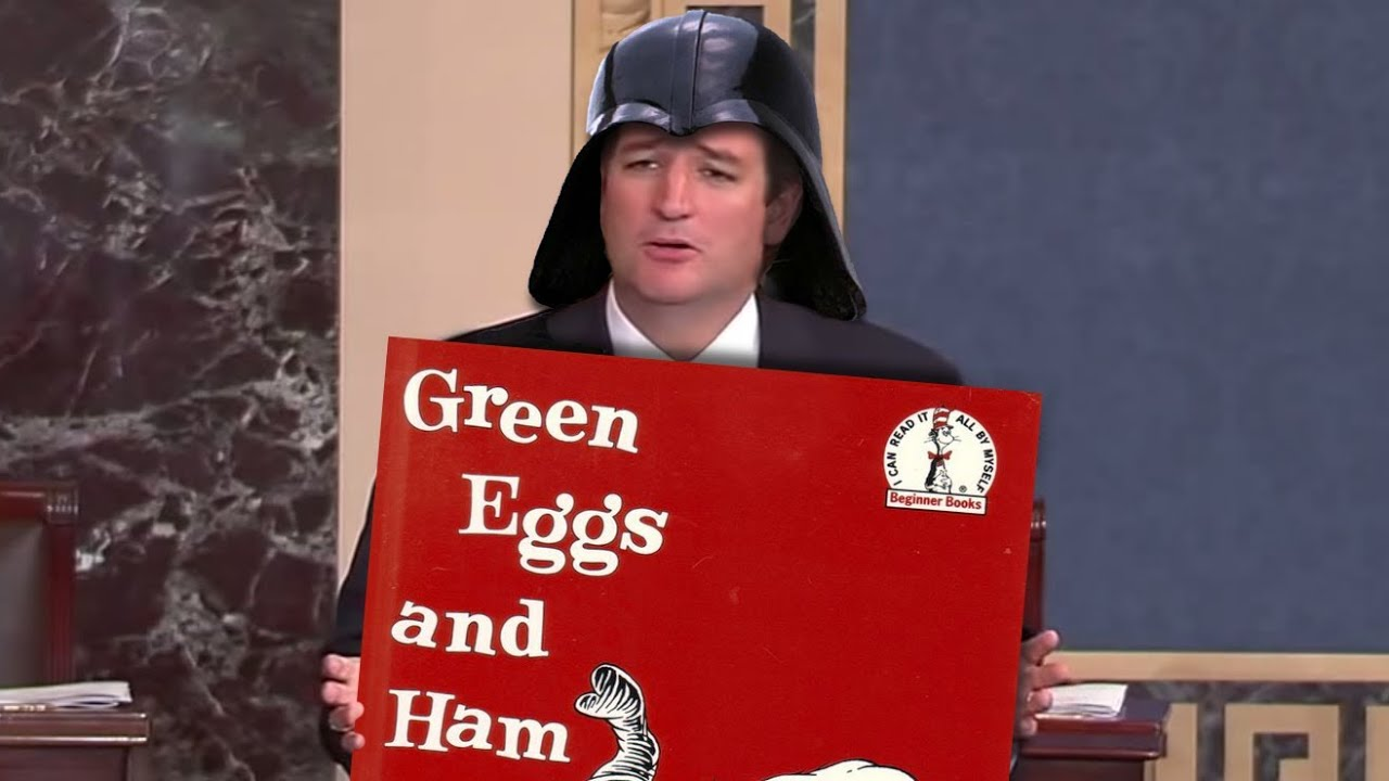 How To Filibuster >> Ted Cruz's Bizarre Dr Seuss & Star Wars Moments During Filibuster - YouTube
