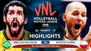 Brazil vs Poland | Gold Medal Match | VNL 2021 | Highlights | Wallace De Souza vs Bartosz Kurek