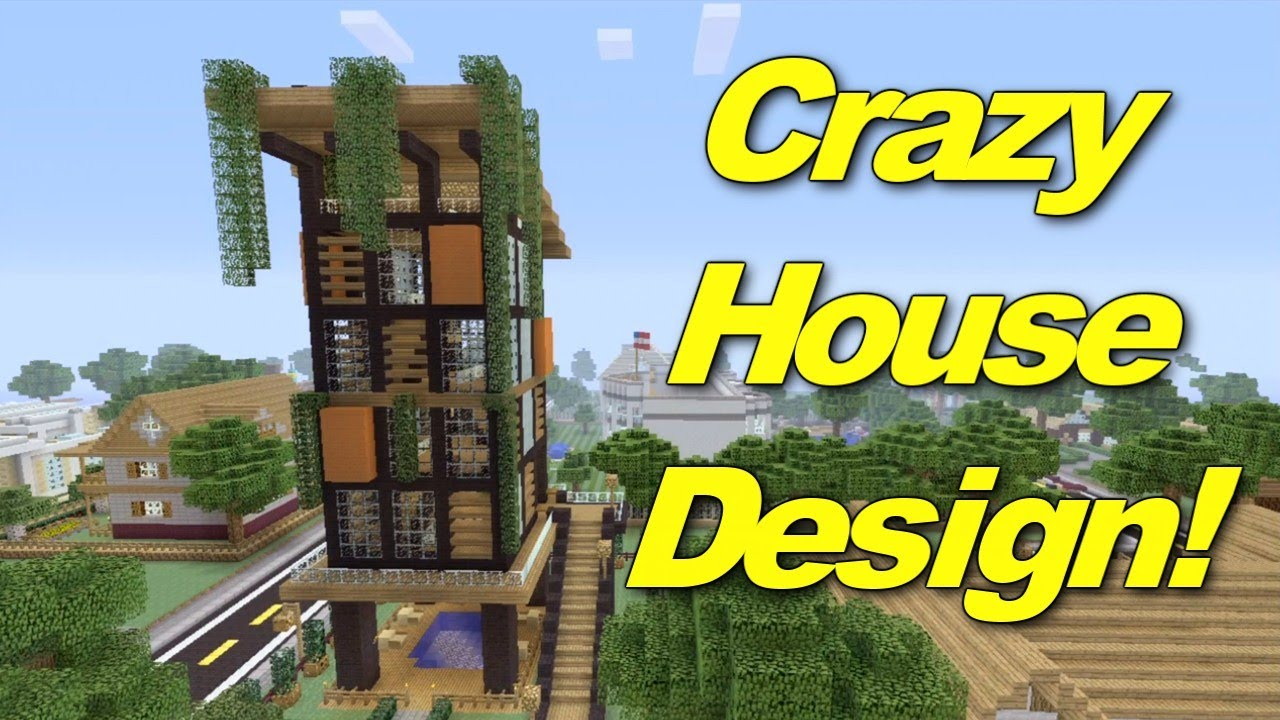 Minecraft Xbox 360: Crazy House Design! (House Tours of Danville ...