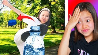 И Я ТУДА ЖЕ! Пробую Повторить BOTTLE CUP CHALLENGE | Видео Мария Омг