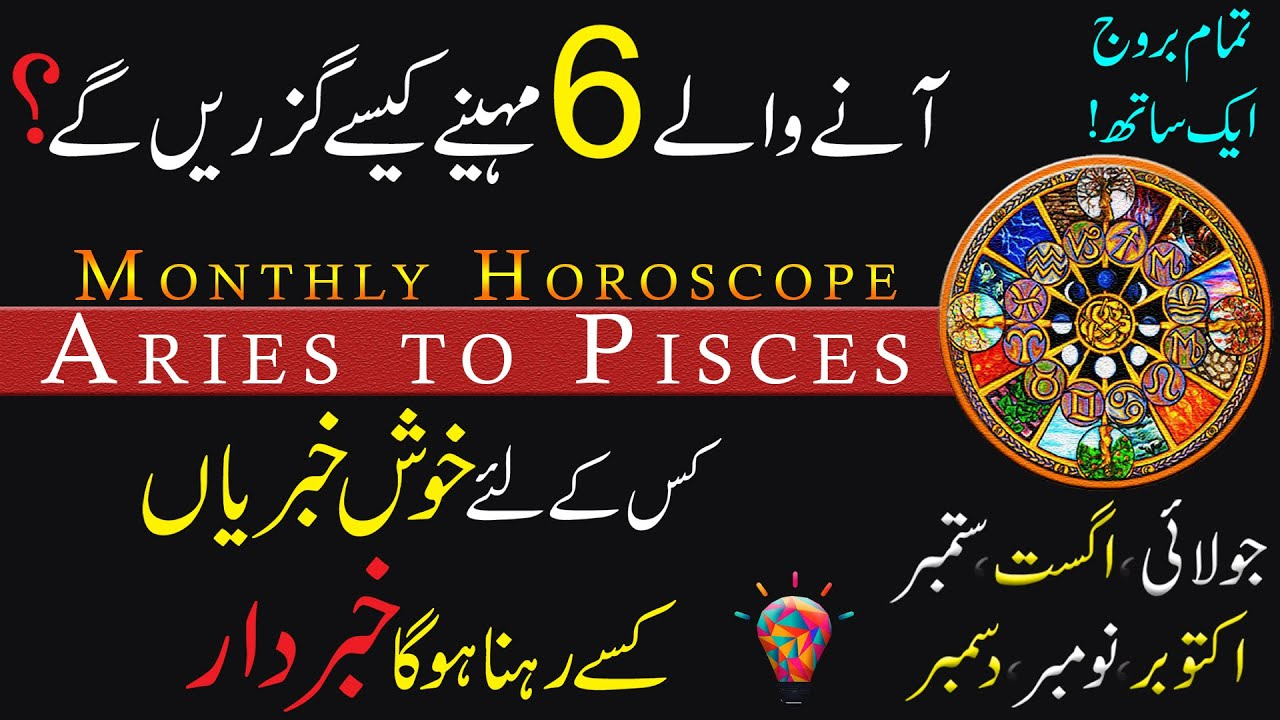 Monthly Horoscope, Aries to Pisces, July to December 2021, Astrology, ilm e Najoom