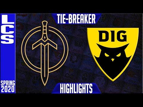 GG Vs DIG Highlights   LCS Spring 2020 TIE-BREAKER   Golden Guardians Vs Dignitas