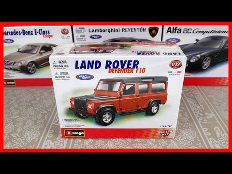 Toy Cars for kids Model Car Land Rover Defender 110! Bburago Italian Toy Car Construction.