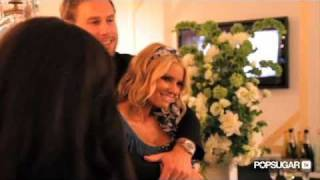 Jessica Simpson Cuddles With Fiance Eric Johnson at Fashion Event