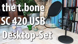 t.bone SC 420 USB Desktop-Set - Bestes USB-Mikrofon-Set unter 100 Euro? - Vergleich mit Auna MIC-900