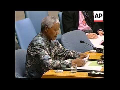 UN: NELSON MANDELAS BRIEFING