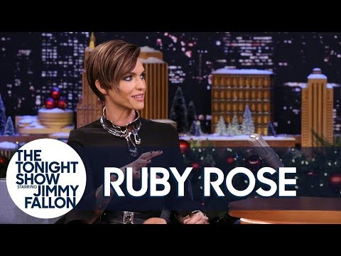 Ruby Rose Bought Her Mom a Giant Killer Pig