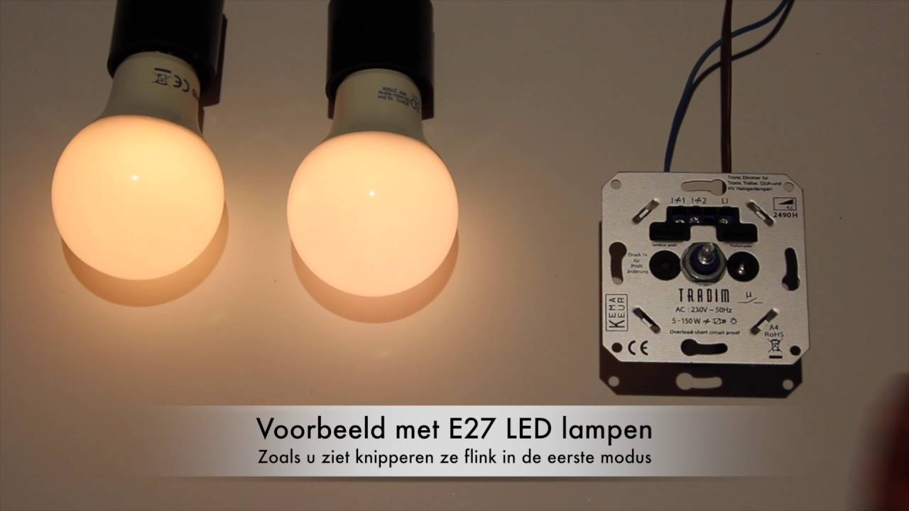 Dubbele Dimmer Inbouw Instructie Video Led Tradim Dimmer 2490h