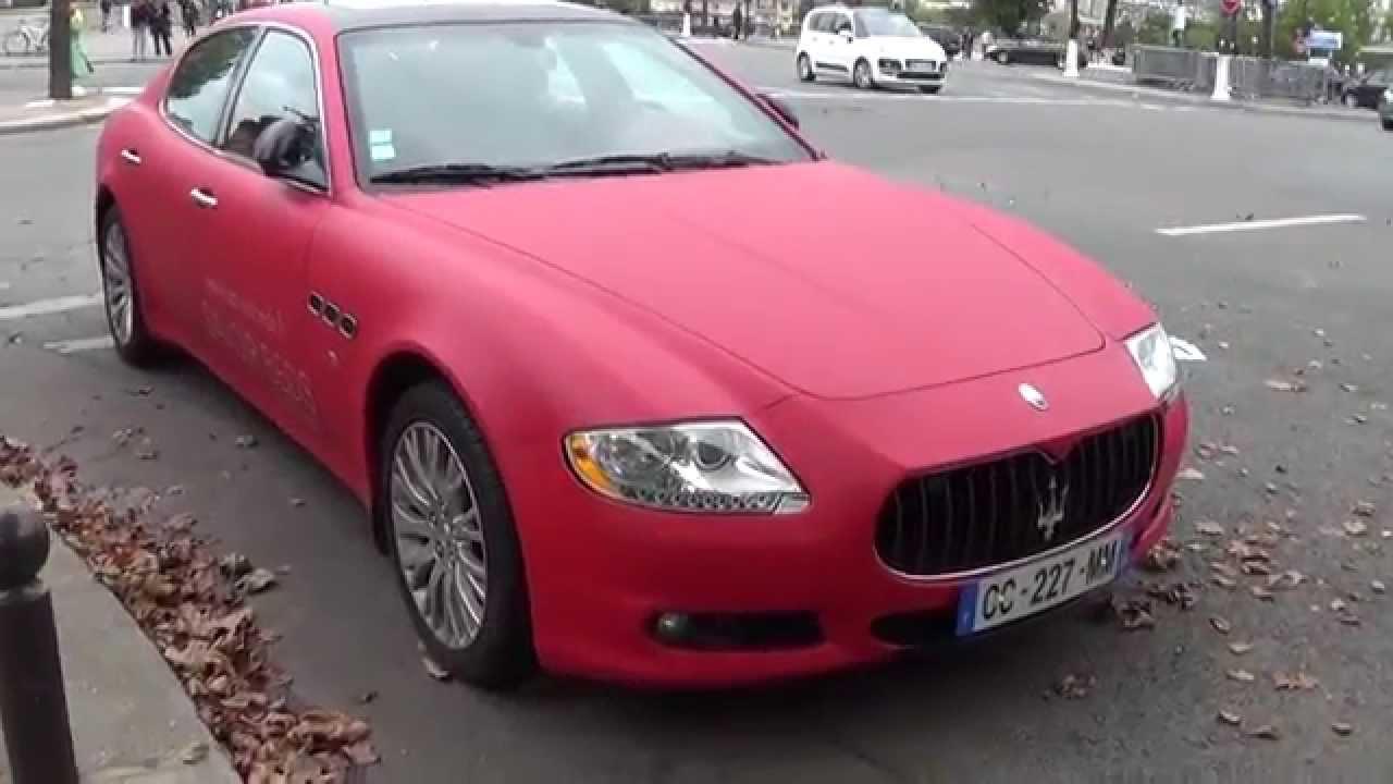 Red Matt Maserati Quattroporte!   YouTube