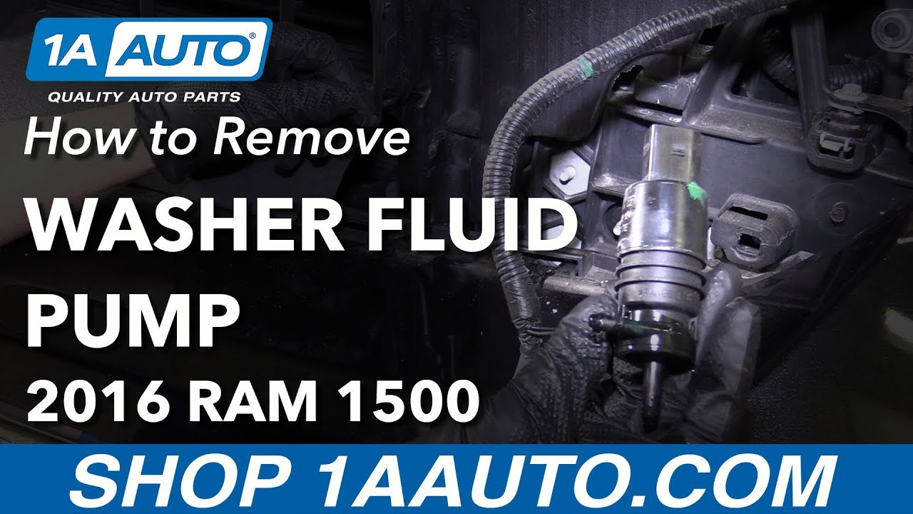 how to remove washer fluid pump 09 18 ram 1500 [ 1280 x 720 Pixel ]