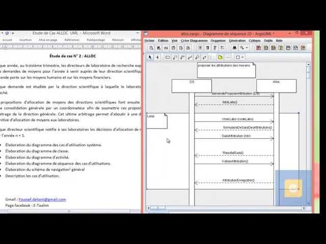 Etude de Cas ALLOC : Diagramme de Séquence du cas ' proposer les attributions des moyens'