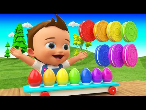 Colors for Children to Learn with Little Baby Fun Play Eggs Toys Colors Biscuits 3D Kids Educational