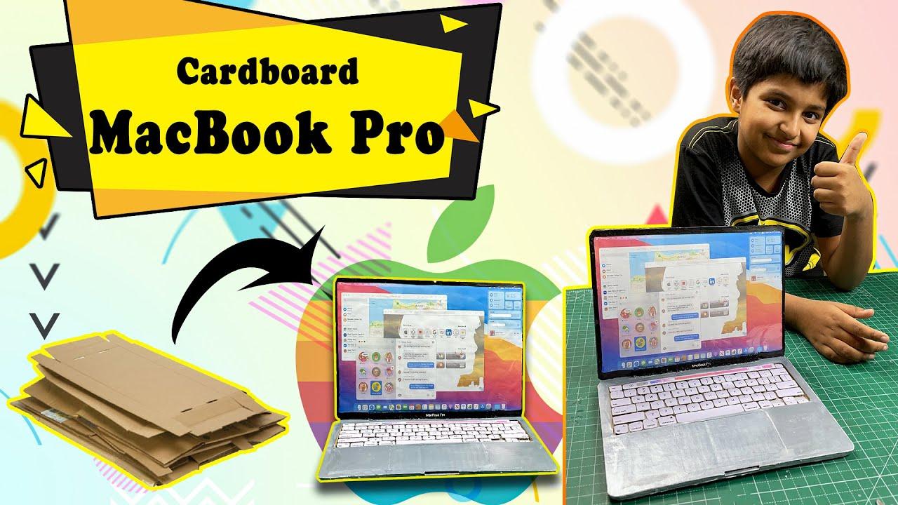 How to make MacBook Pro with Cardboard | घर पे बनाओ Cardboard ka Laptop | Easy DIY Craft Ideas