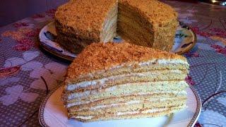 Торт Дамский Каприз/Торт с Бананами/Простой Пошаговый Рецепт(Очень Нежный и Вкусный)